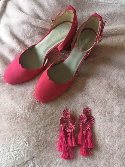 Shoes Monsoon £13.50 and earrings Top Shop £5.00